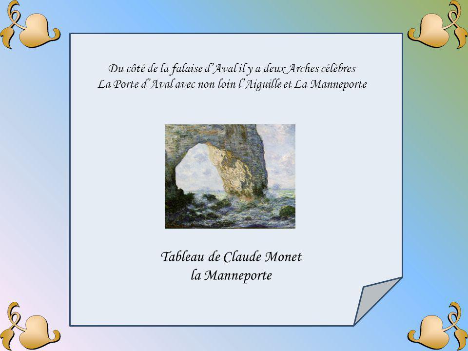 Tableau de Claude Monet la Manneporte