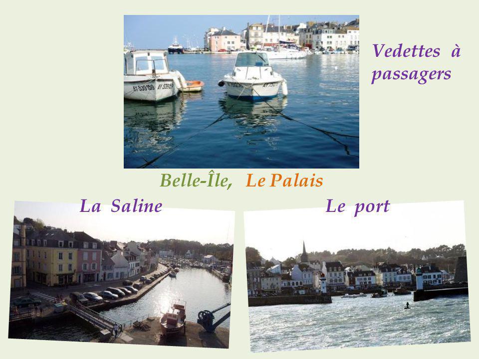 Belle-Île, Le Palais La Saline Le port
