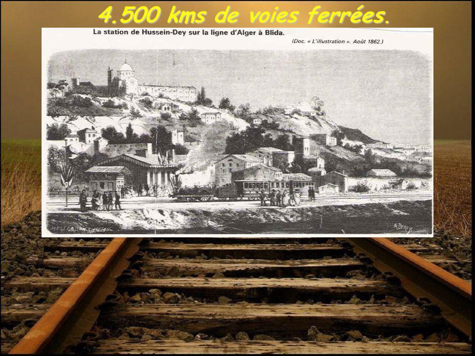 4.500 kms de voies ferrées.