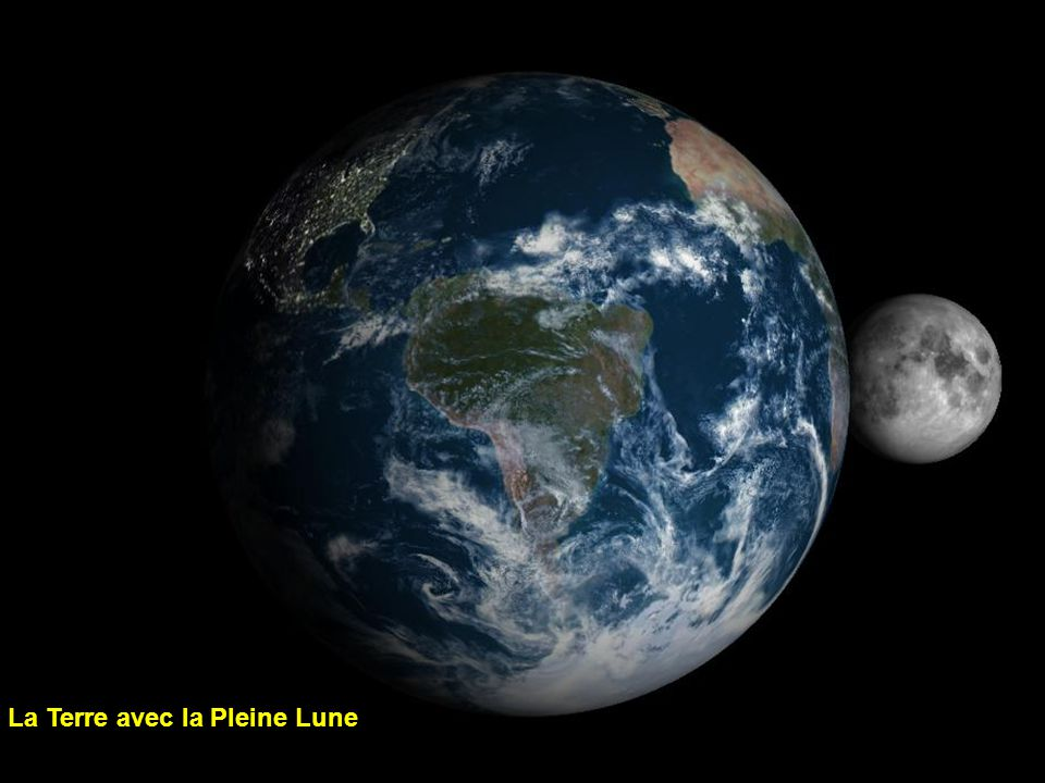 La Terre avec la Pleine Lune