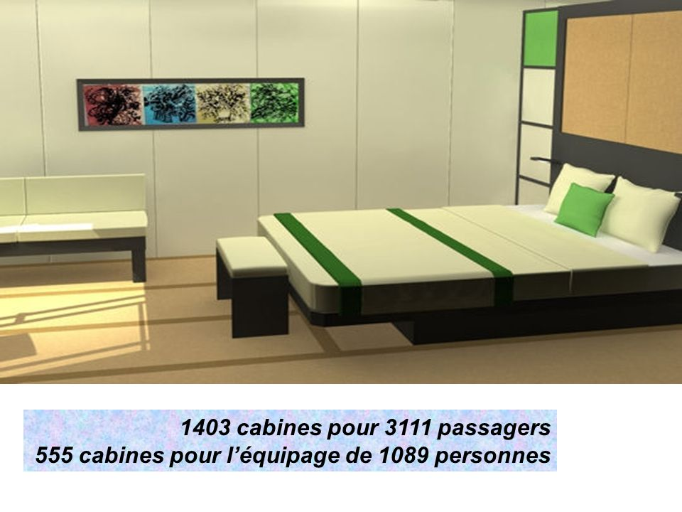 1403 cabines pour 3111 passagers