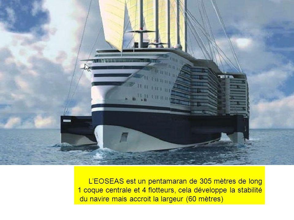 L'EOSEAS est un pentamaran de 305 mètres de long