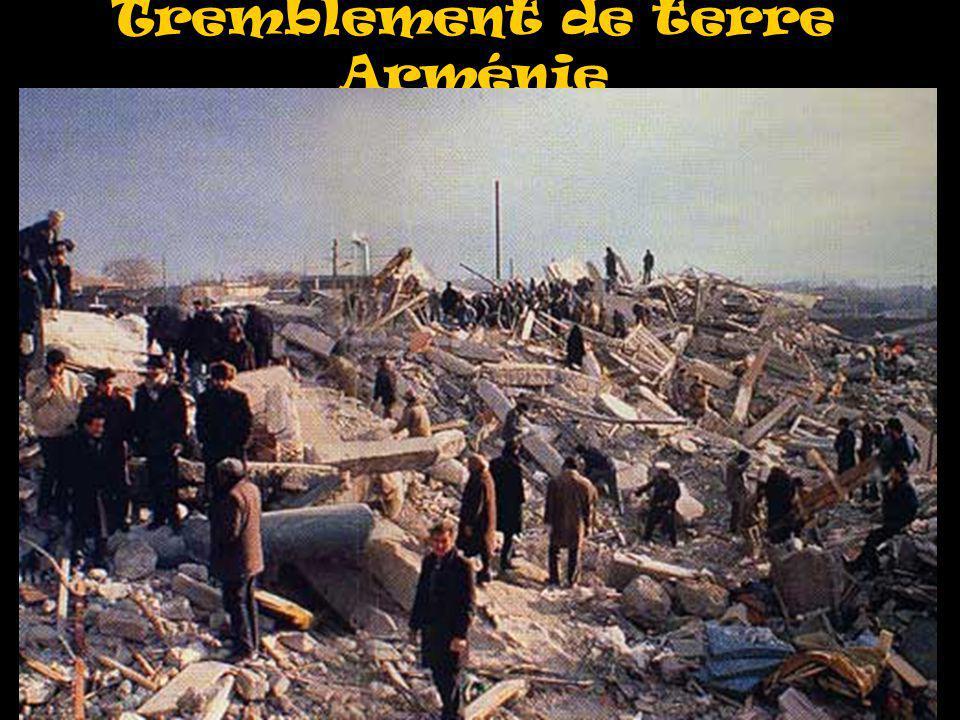 Tremblement de terre Arménie