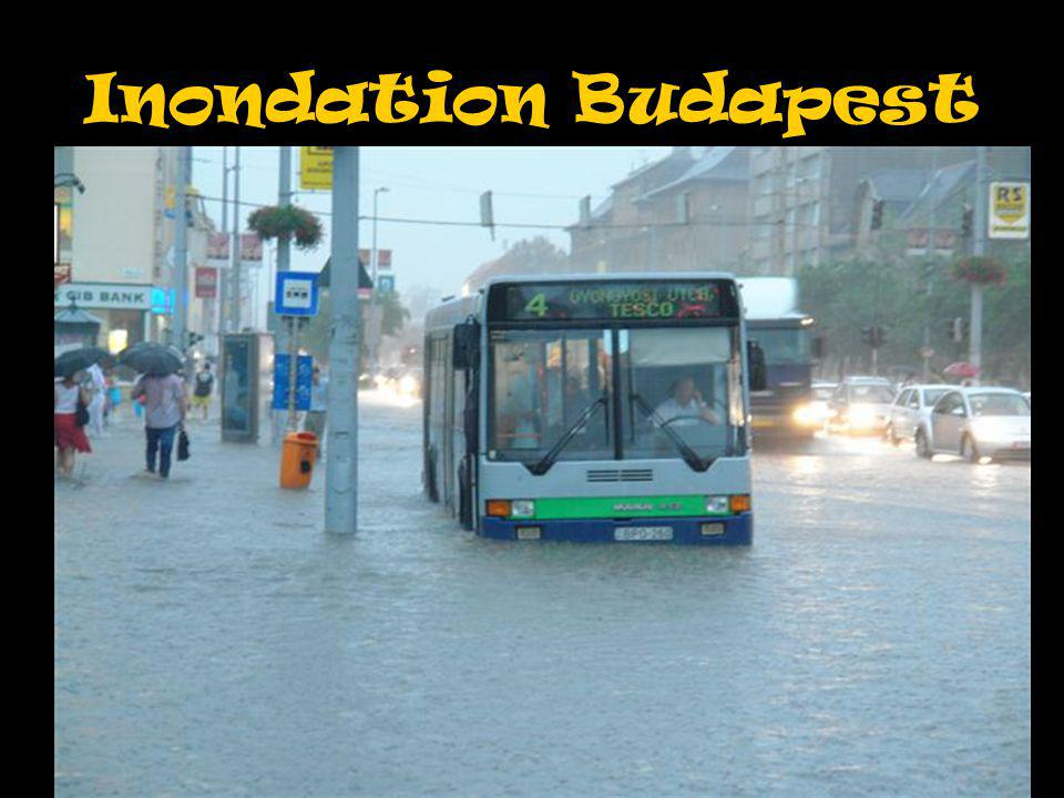 Inondation Budapest