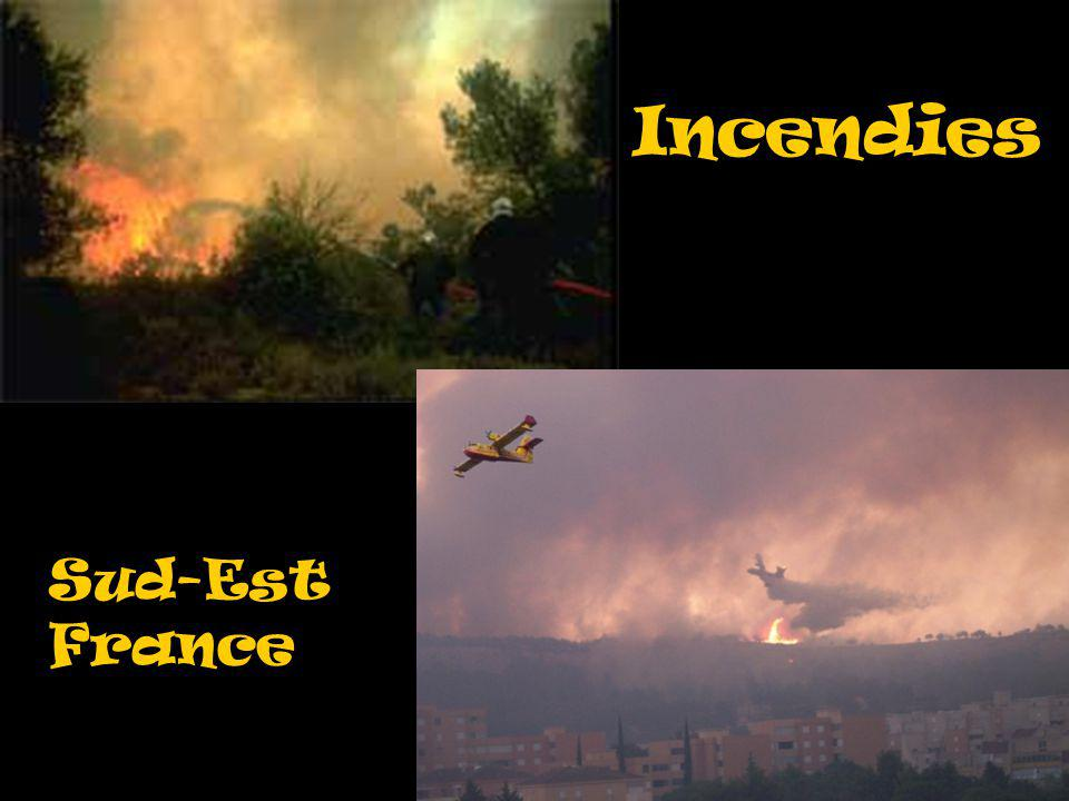 Incendies Sud-Est France