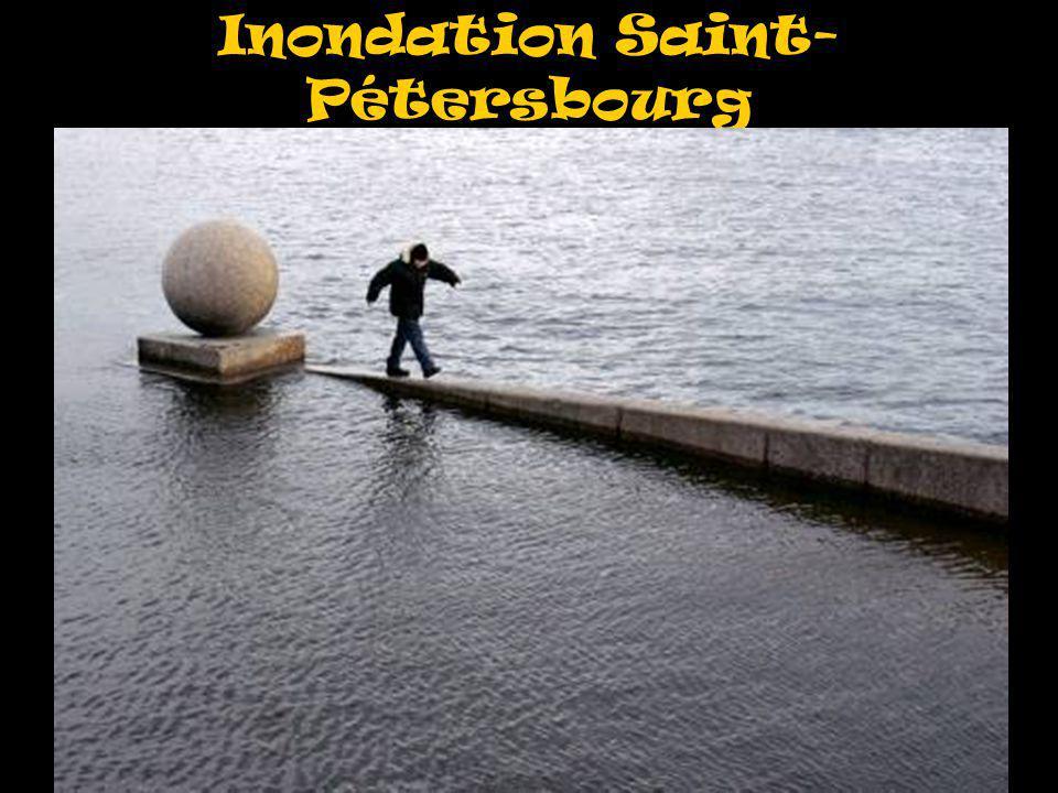 Inondation Saint-Pétersbourg