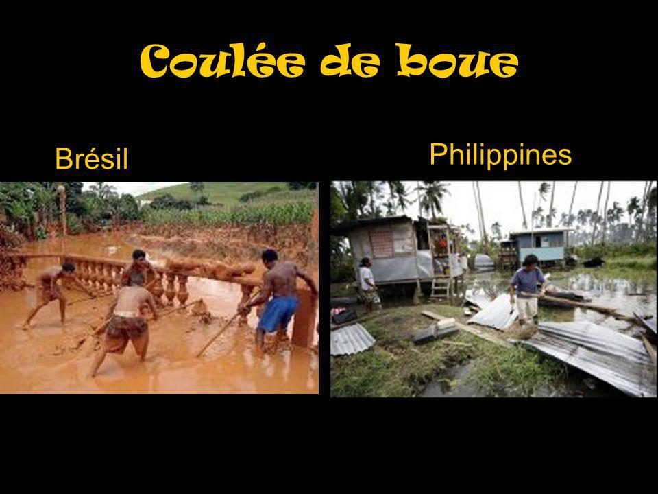 Coulée de boue Philippines Brésil