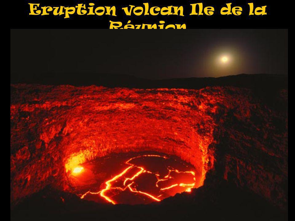 Eruption volcan Ile de la Réunion