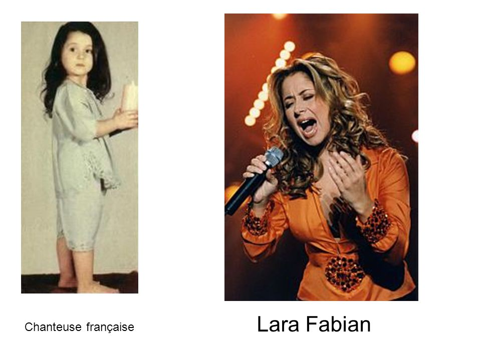 Lara Fabian Chanteuse française
