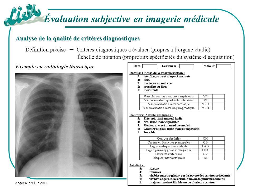 Évaluation subjective en imagerie médicale