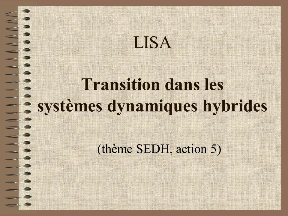 LISA Transition dans les systèmes dynamiques hybrides