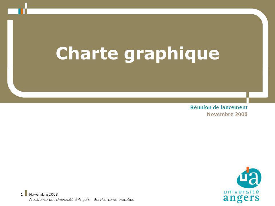 Charte graphique Réunion de lancement Novembre 2008 Novembre 2008