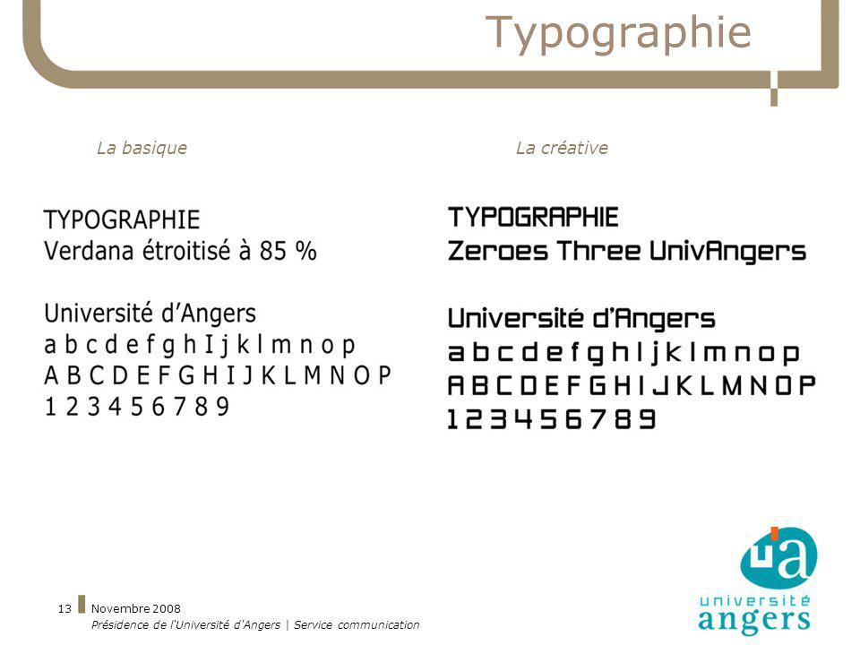 Typographie La basique La créative Novembre 2008
