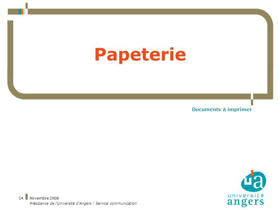 Papeterie Documents à imprimer Novembre 2008