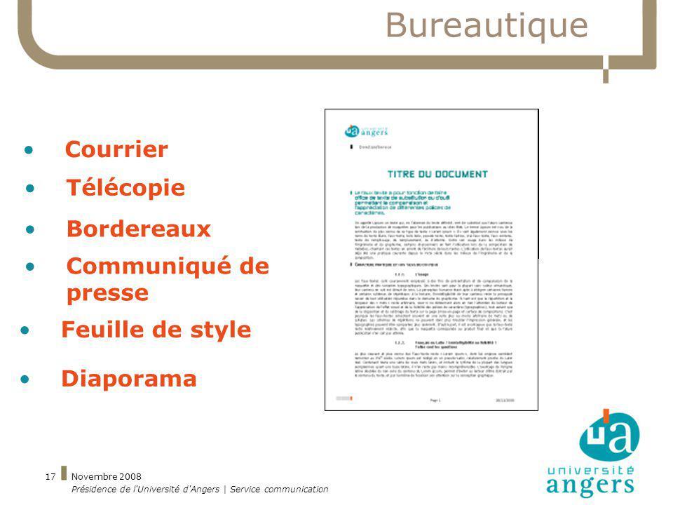 Bureautique Courrier Télécopie Bordereaux Communiqué de presse