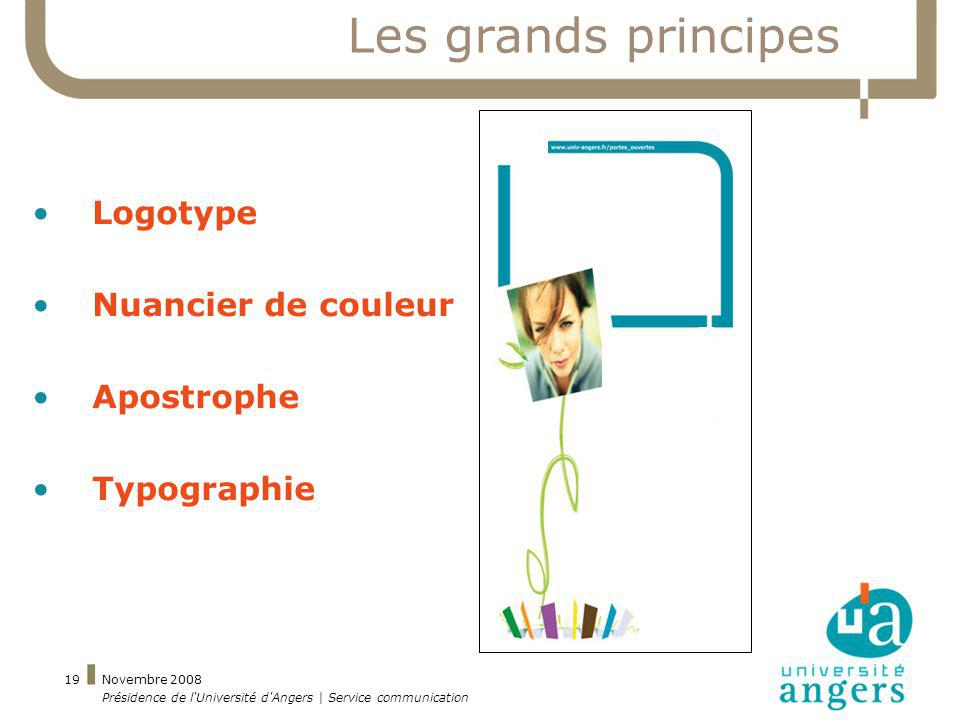 Les grands principes Logotype Nuancier de couleur Apostrophe