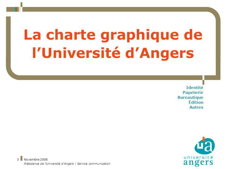 La charte graphique de l'Université d'Angers