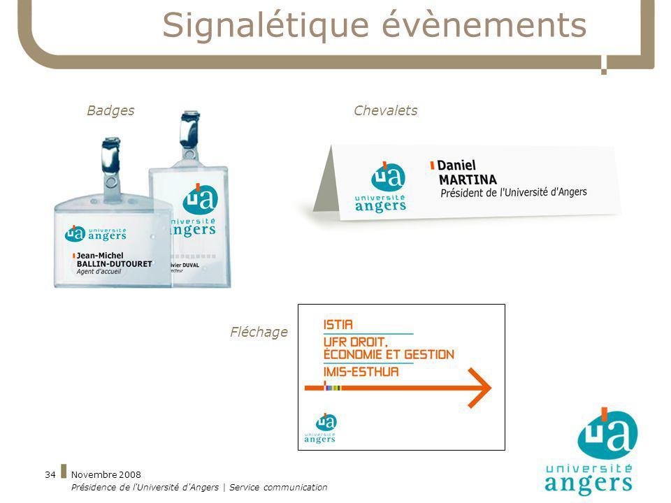 Signalétique évènements