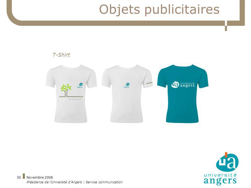 Objets publicitaires T-Shirt Novembre 2008