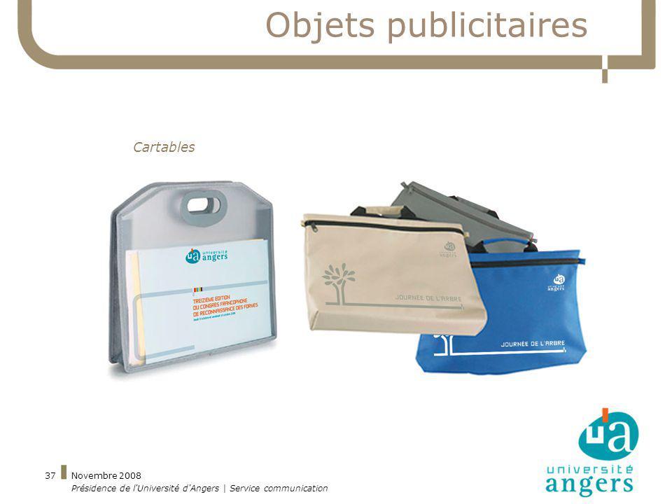 Objets publicitaires Cartables Novembre 2008