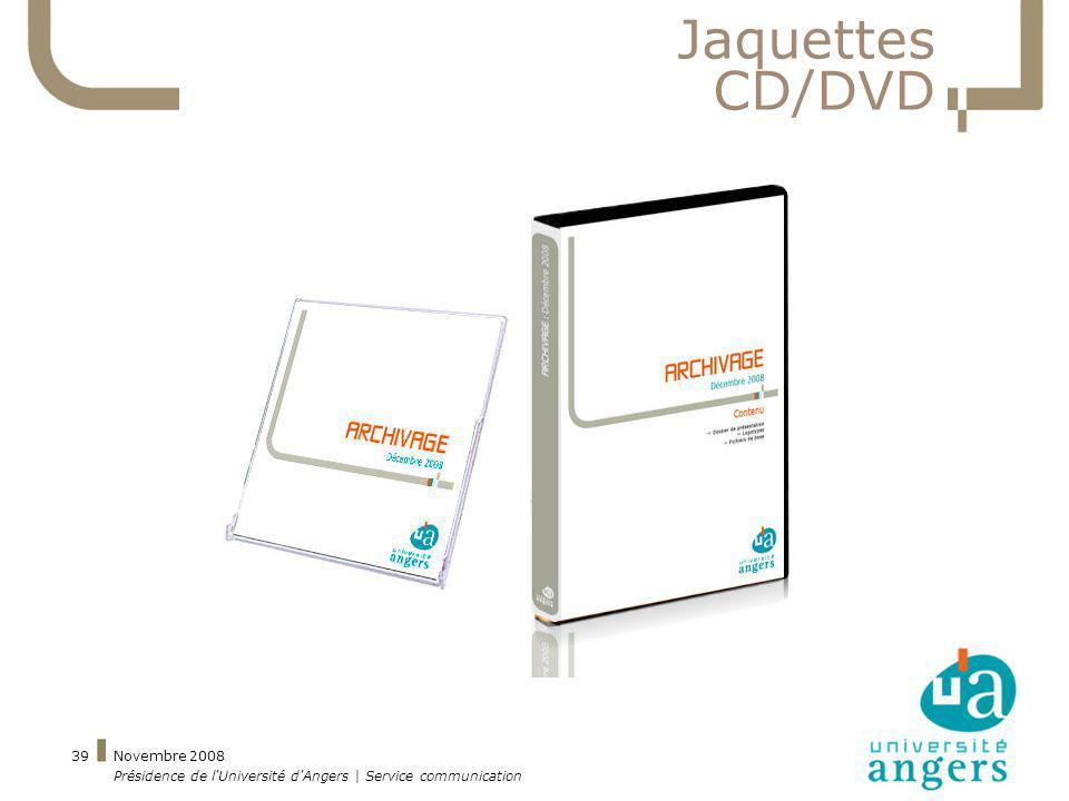 Jaquettes CD/DVD Novembre 2008