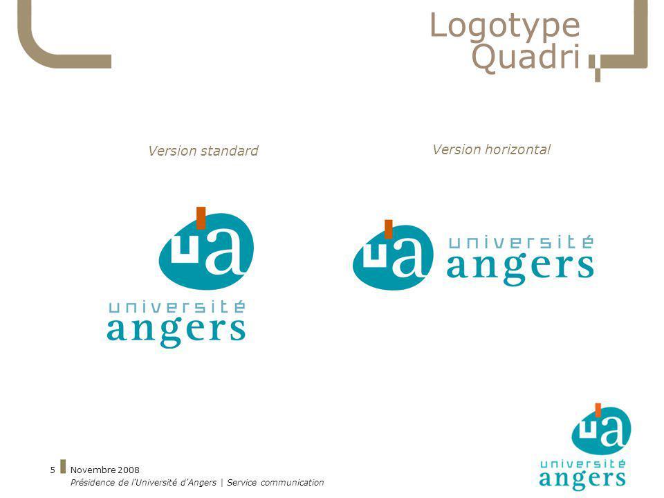 Logotype Quadri Version standard Version horizontal Novembre 2008