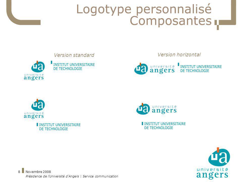 Logotype personnalisé Composantes