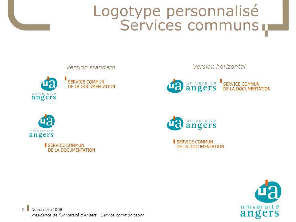 Logotype personnalisé Services communs