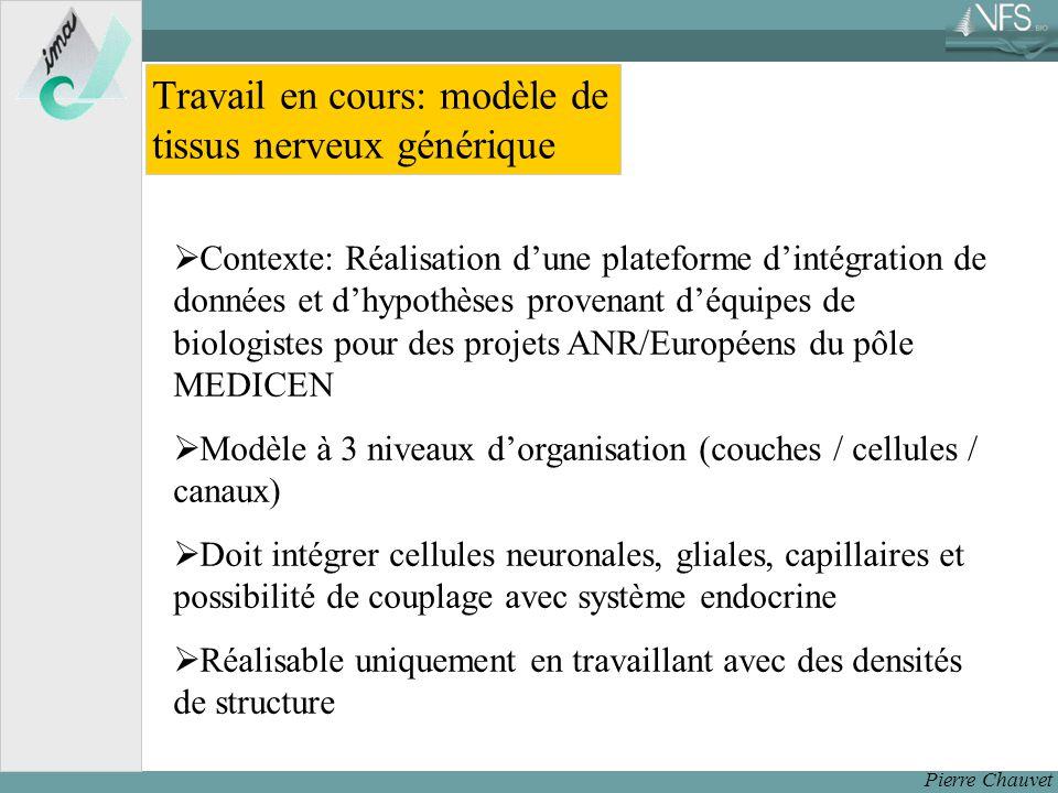 Travail en cours: modèle de tissus nerveux générique