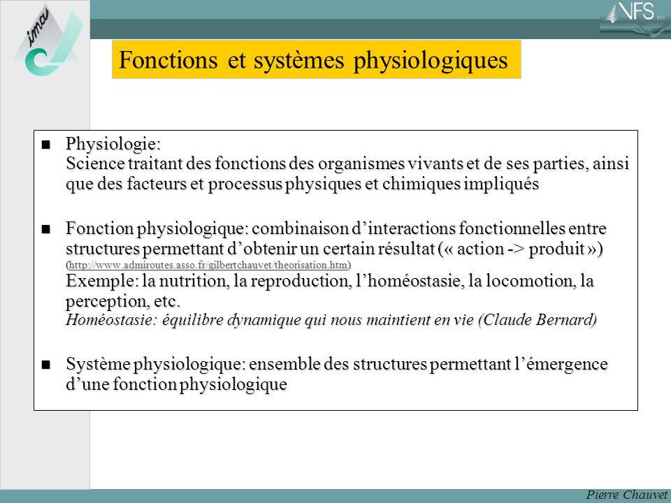 Fonctions et systèmes physiologiques