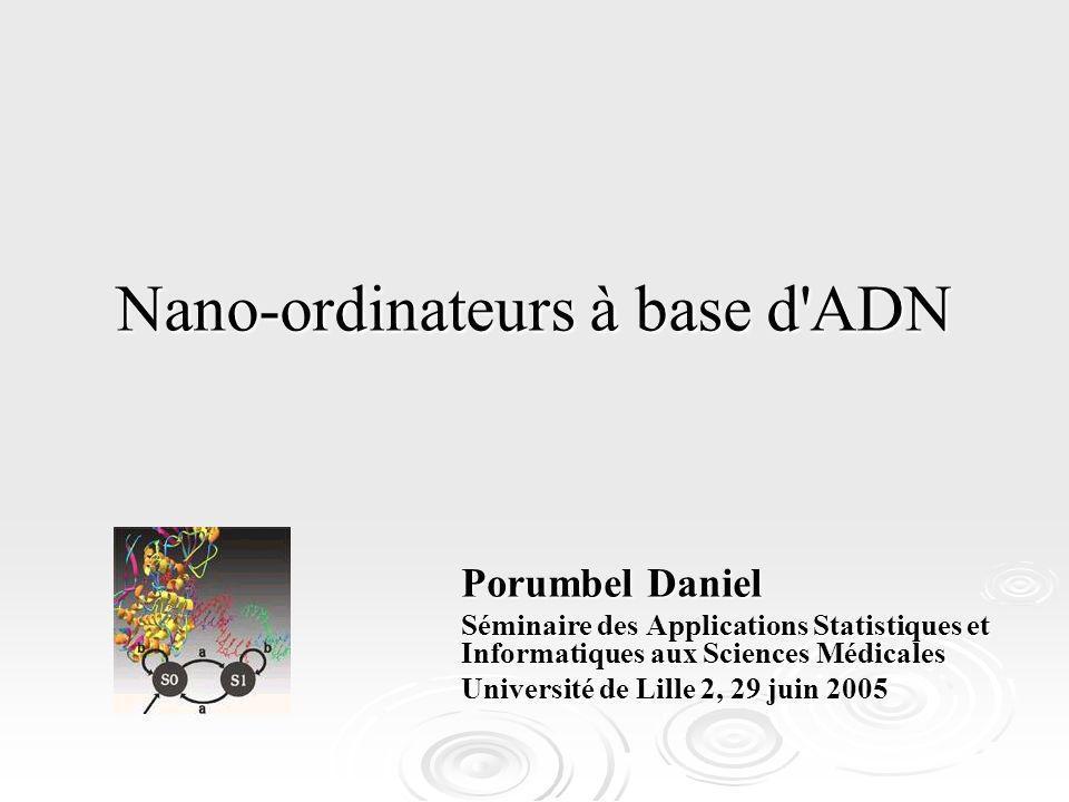 Nano-ordinateurs à base d ADN