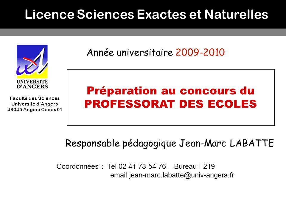Préparation au concours du PROFESSORAT DES ECOLES