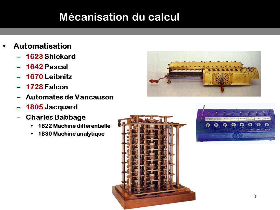 Mécanisation du calcul