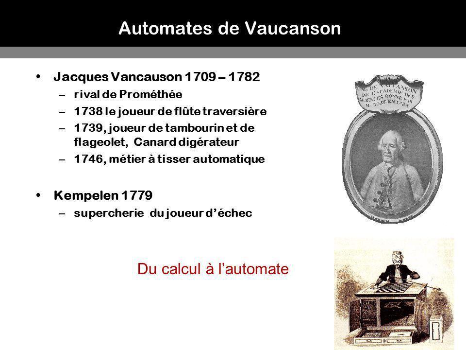 Automates de Vaucanson