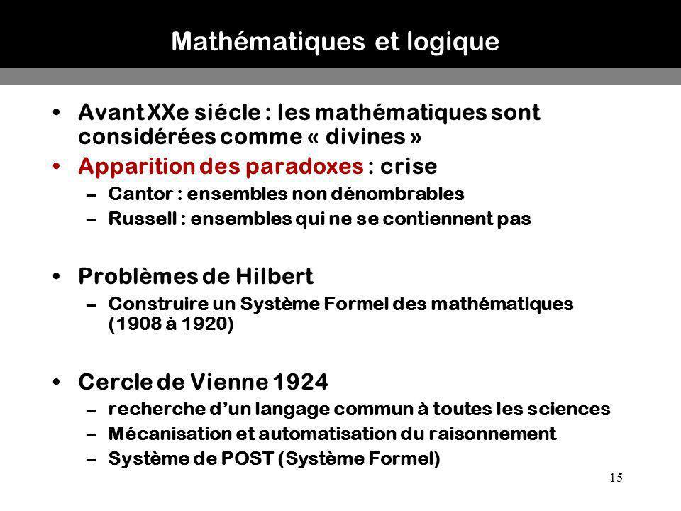 Mathématiques et logique
