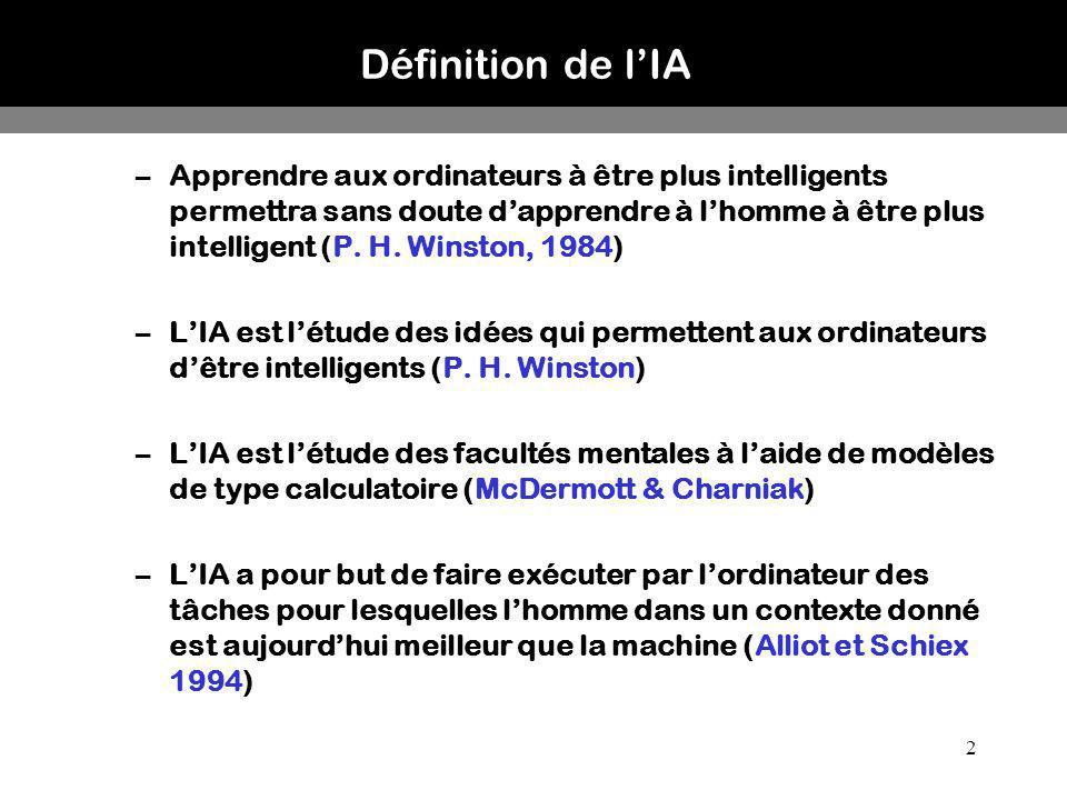 Définition de l'IA