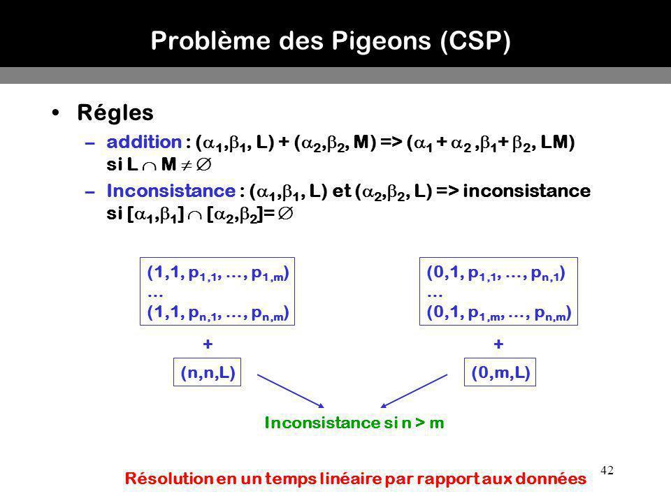 Problème des Pigeons (CSP)