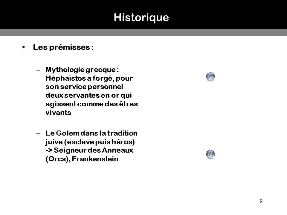 Historique Les prémisses :