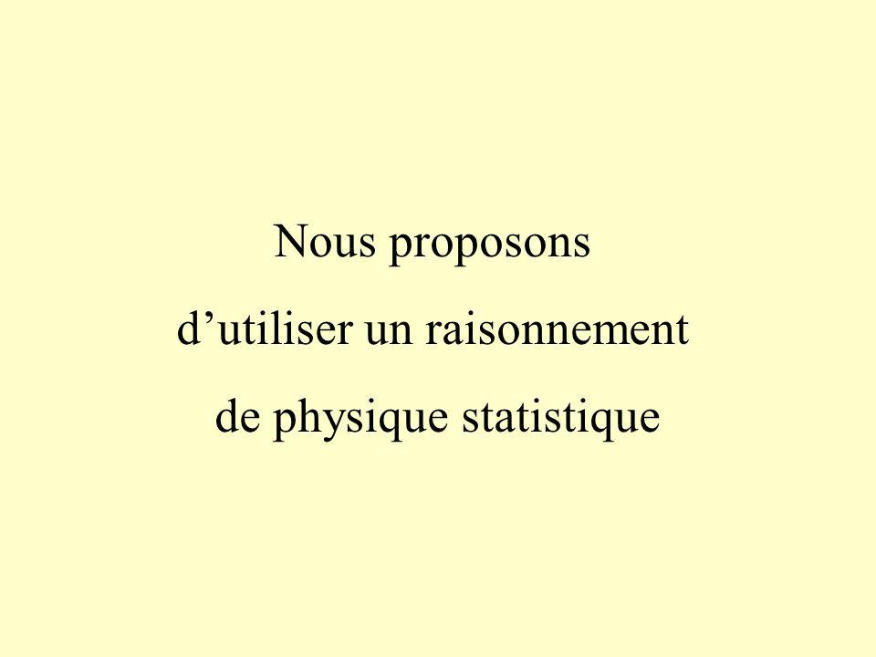 d'utiliser un raisonnement de physique statistique