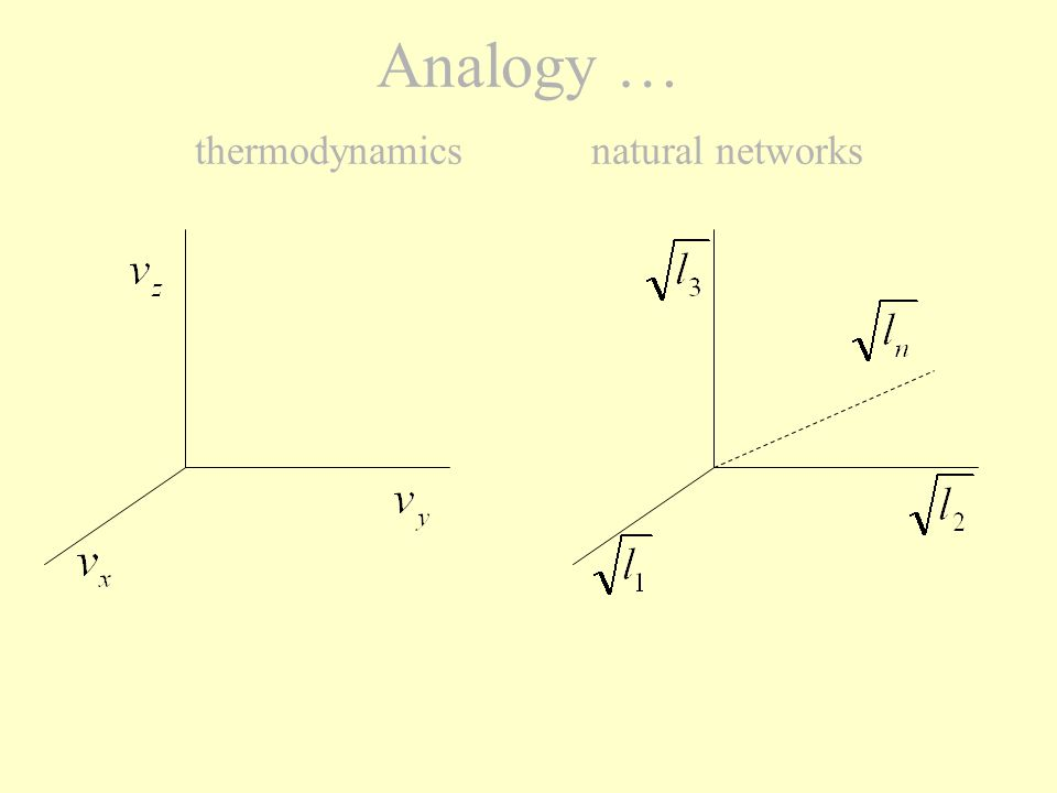 Analogy … thermodynamics natural networks