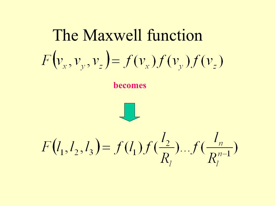 The Maxwell function becomes