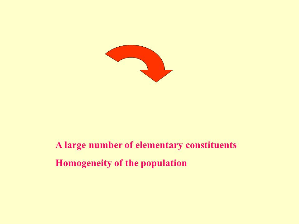 A large number of elementary constituents