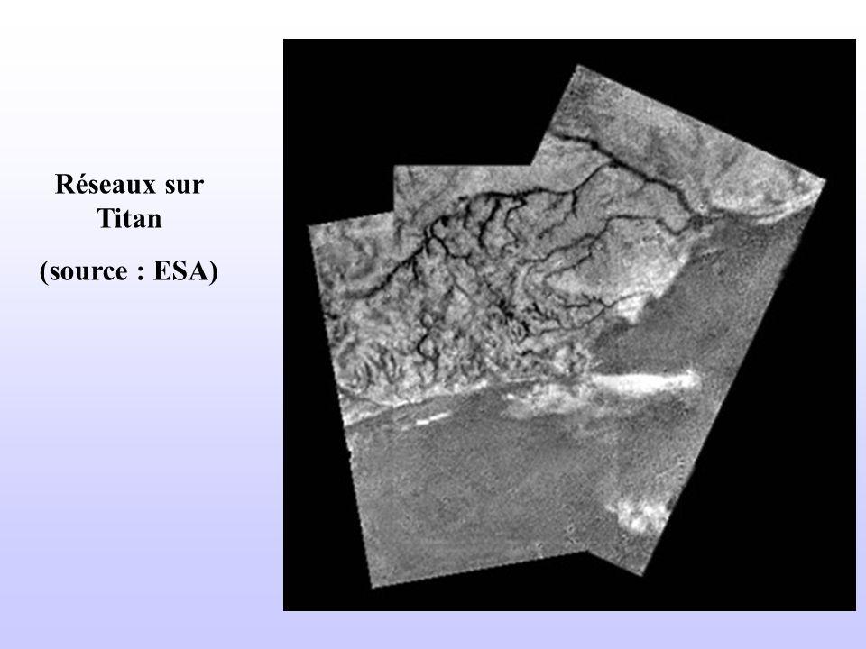 Réseaux sur Titan (source : ESA)