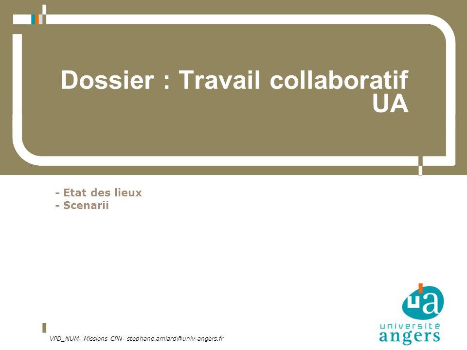 Dossier : Travail collaboratif UA
