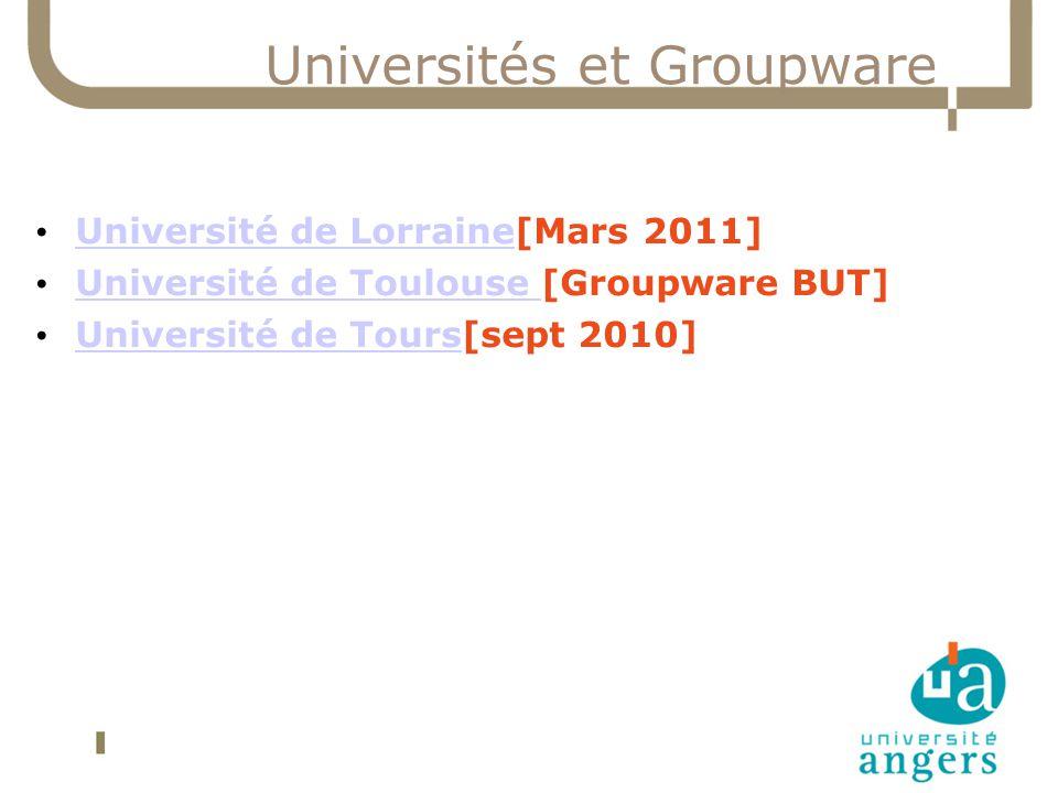 Universités et Groupware