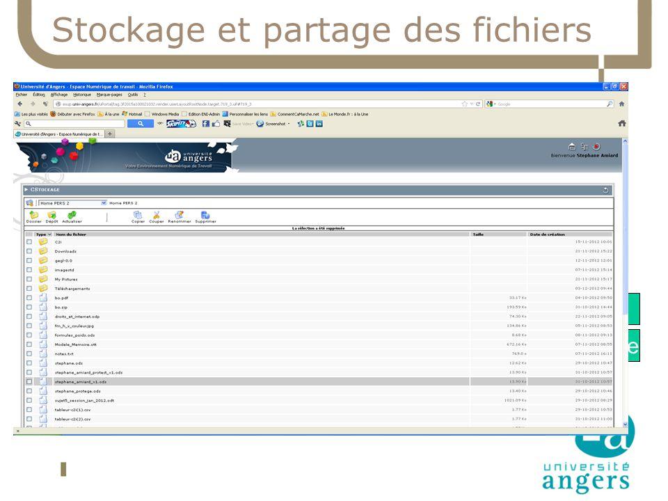Stockage et partage des fichiers