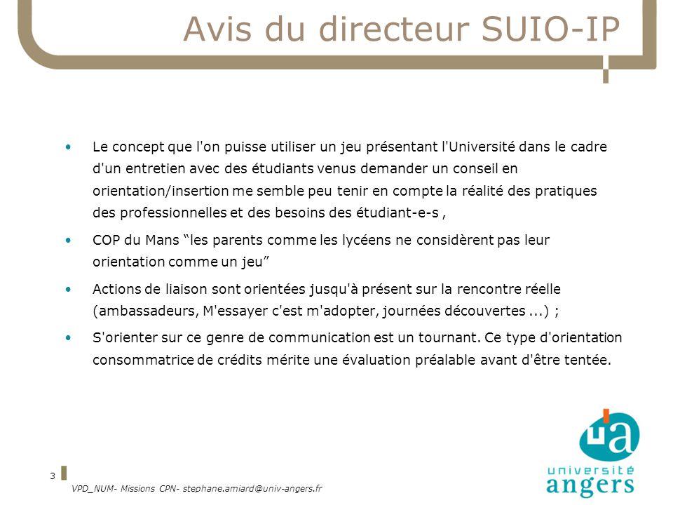 Avis du directeur SUIO-IP