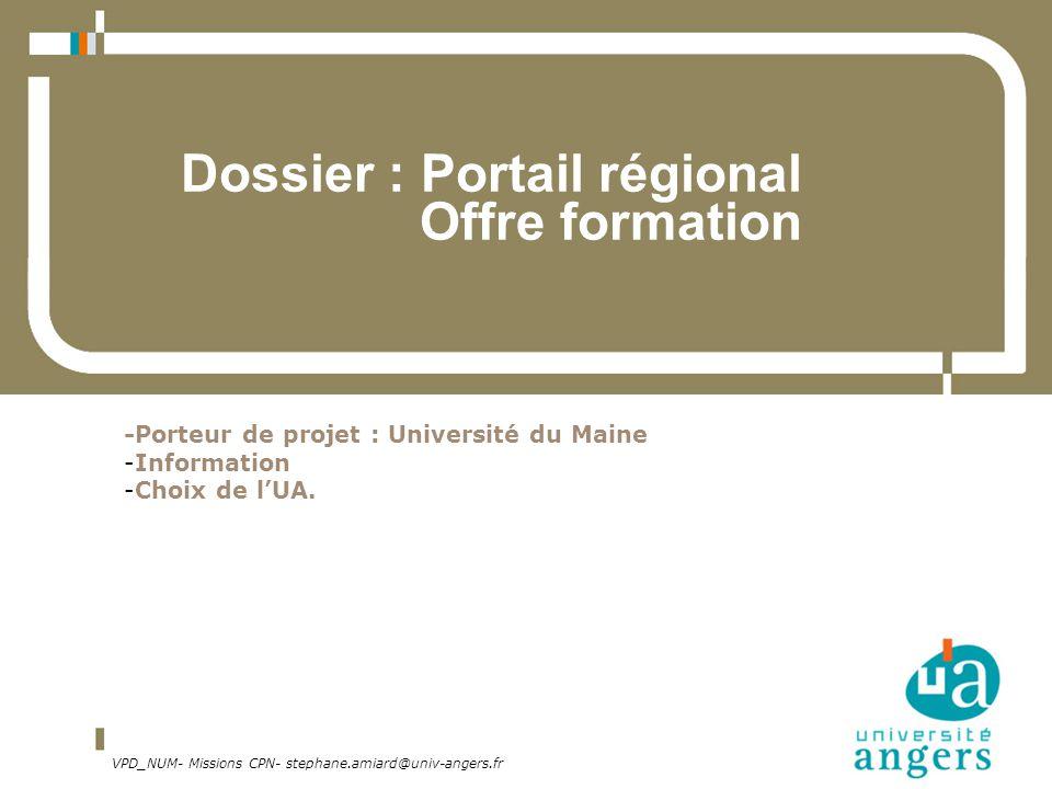Dossier : Portail régional Offre formation