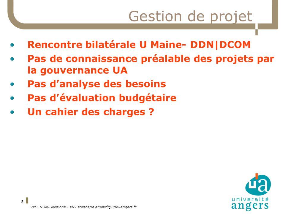 Gestion de projet Rencontre bilatérale U Maine- DDN|DCOM
