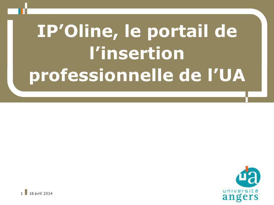 IP'Oline, le portail de l'insertion professionnelle de l'UA